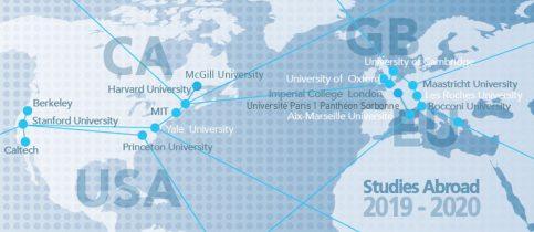 Studies Abroad - Επιτυχίες μαθητών μας σε πανεπιστήμια του εξωτερικού (2019 - 2020)