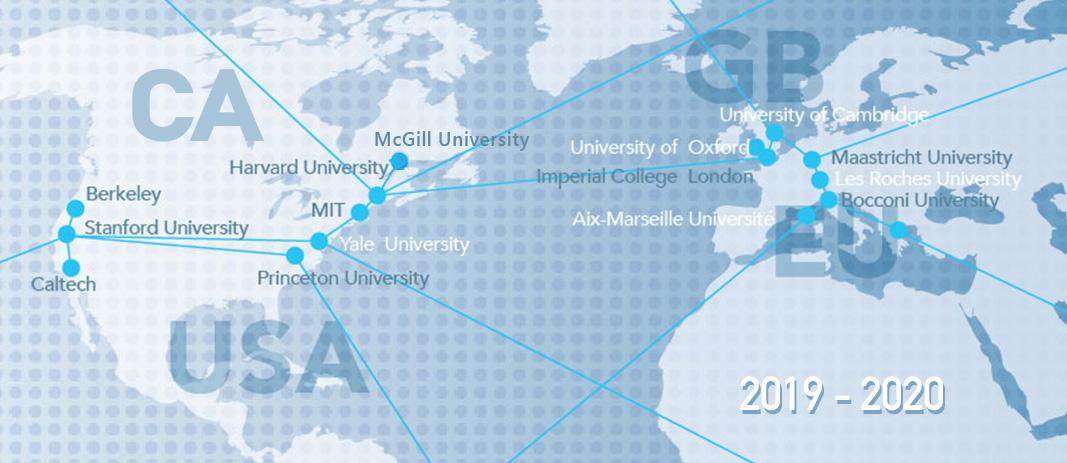 Επιτυχίες μαθητών μας σε πανεπιστήμια του εξωτερικού (2019 - 2020)