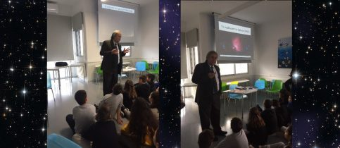 Students of the 5th grade of mandoulides schools, listening to astronomy professor mr Stavros Avgoloupis