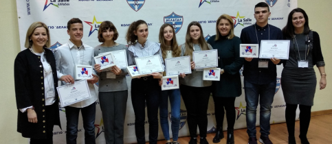 "Six Mandoulides Schools students excelled in the 6th Student Public Speaking Meeting in French, ""Conseil des Jeunes Citoyens""."