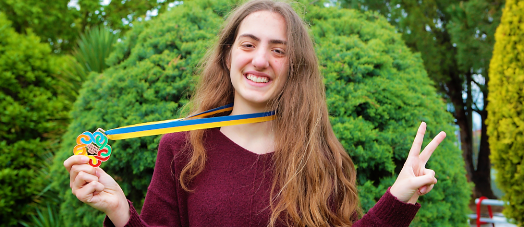 Student Α. - Ch. Savva (12th Grade) won the bronze medal in the 8th European Girls' Mathematical Olympiad (EGMO 2019), which was held in Kiev, Ukraine