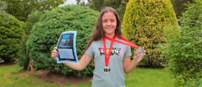 Student N. - Th. - D. Siampali (7th Grade) won the 2nd place and the silver medal in the category Debut All Ladies Show Latin Junior at the TDF competition