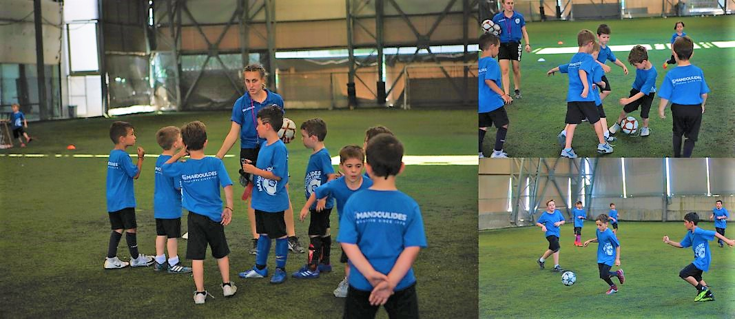 The well-established Mandoulides Soccer Camp of the Schools was successfully completed for yet another year. The camp, which took place in Tziolas indoor pitches and lasted six days, was attended by 101 students from all over the city.