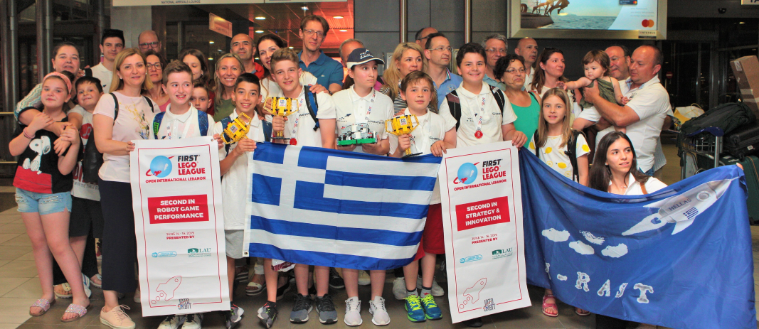 2nd place in First Lego League International for Mandoulides Schools' Robotics and Space Team M-RAST