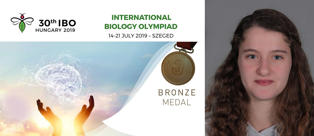 Bronze Medal in the 30th International Biology Olympiad (IBO 2019)
