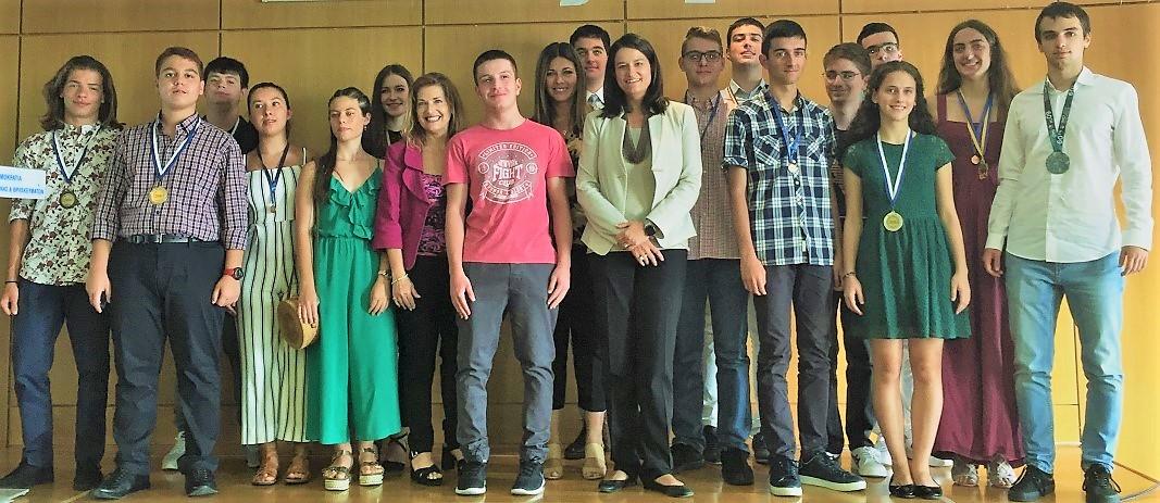 Οι μαθητές των Εκπαιδευτηρίων Μ. Κωνσταντινίδου, Α. - Χ. Σάββα και Κ. Κωνσταντινίδης βραβεύτηκαν από την Υπουργό Παιδείας και Θρησκευμάτων Νίκη Κεραμέως