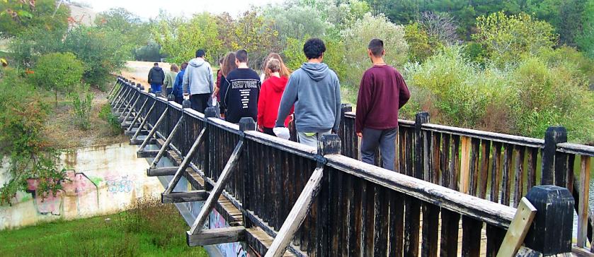 Environmental Team on autumn excursion to the Dam of Thermi