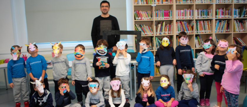 Author Makis Tsitas visits Kindergarten