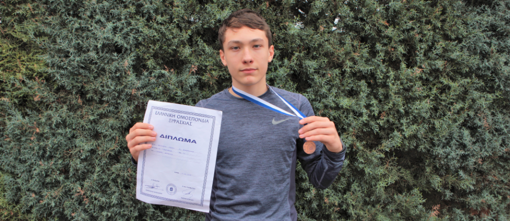 Bronze medal in fencing
