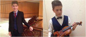 Σολίστ σε συναυλία Ο μαθητής των Εκπαιδευτηρίων Θ. Κυπάρος