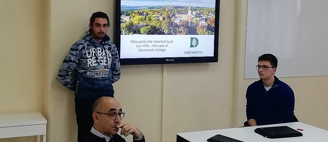 Studies Abroad Program for Studies in the USA presentation by Mandoulides Schools graduates