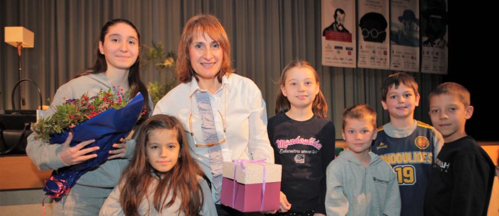 "2nd and 3rd Grade welcome Elena Artzanidou and ""Isolde's Box"""