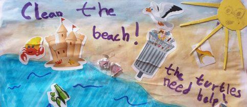 Στο πλαίσιο των projects στο μάθημα των Αγγλικών, οι μαθητές της Β΄ και Γ΄ Δημοτικού συζήτησαν με τους δασκάλους τους για την προστασία του περιβάλλοντος και φιλοτέχνησαν τις δικές τους δημιουργίες, με τίτλο «Clean The Beach» και «Look After The Forest», αντίστοιχα.